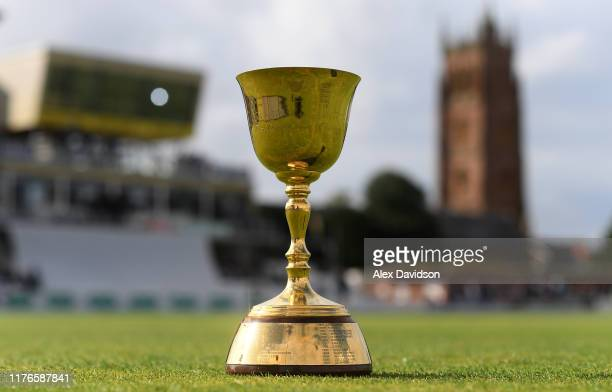 View of the County Championship during Day One of the Specsavers County Championship Division One match between Somerset and Essex at The Cooper...