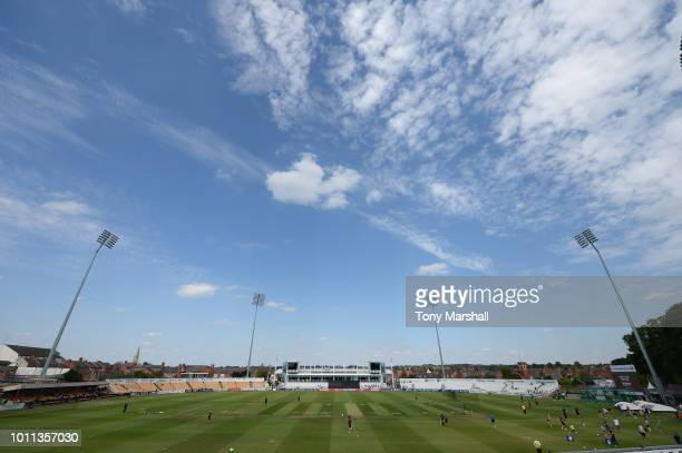 A view of The County Ground ahead of the Vitality Blast match between Northamptonshire Steelbacks and Birmingham Bears at The County Ground on August...