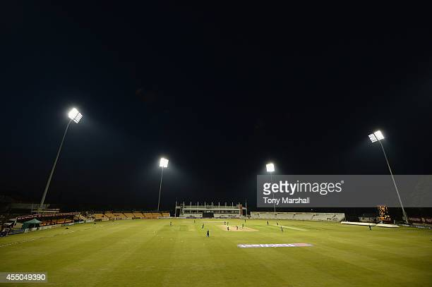 A view of the County Ground Northamprton during the final between Chester Boughton Hall Cricket Club and Ashtead Cricket Club during the ECB National...