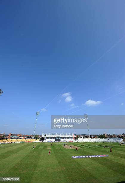 A view of The County Ground Northampton during the ECB National Club T20 Finals at The County Ground on September 9 2014 in Northampton England