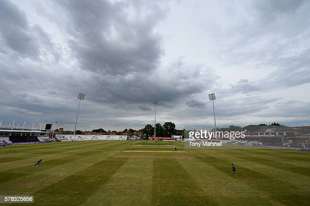A view of The County Ground Northampton during the England Lions v Sri Lanka A Triangular Series match on July 21 2016 in Northampton England