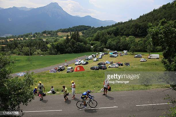 View of the course during stage seventeen of the 2013 Tour de France, a 32KM Individual Time Trial from Embrun to Chorges, on July 17, 2013 in...