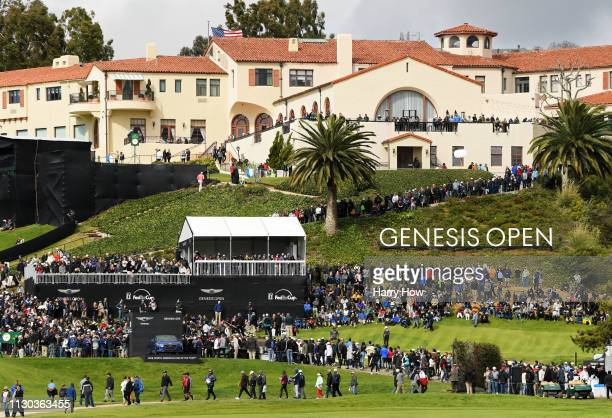 View of the course during the final round of the Genesis Open at Riviera Country Club on February 17, 2019 in Pacific Palisades, California.