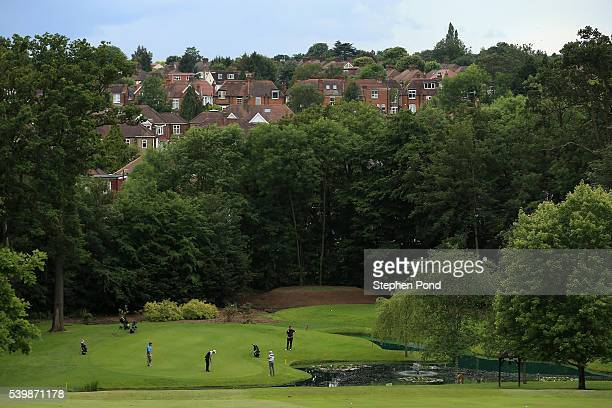 View of the course during the PGA Fourball Qualifier at Bush Hill Park Golf Club on June 13, 2016 in Enfield, England.