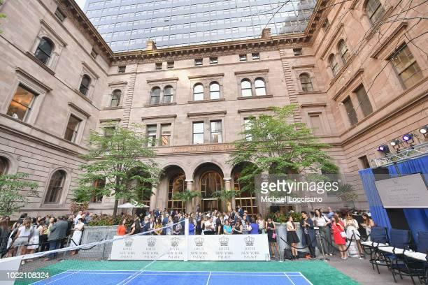 A view of the court at the 2018 Lotte New York Palace Invitational on August 23 2018 in New York City
