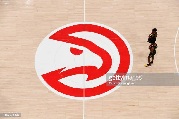 View of the court during a game between the Philadelphia 76ers and the Atlanta Hawks on January 30, 2020 at State Farm Arena in Atlanta, Georgia....