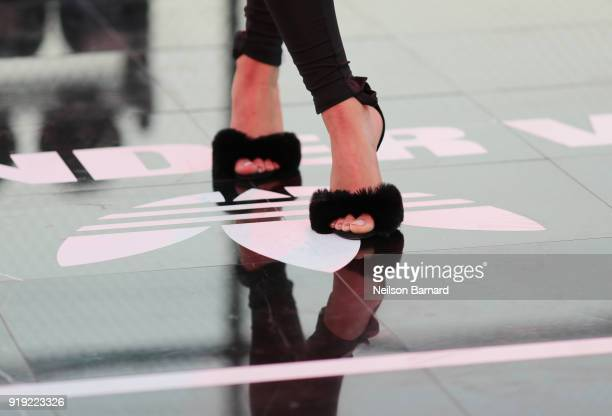 A view of the court during adidas Creates 747 Warehouse St an event in basketball culture on February 16 2018 in Los Angeles California