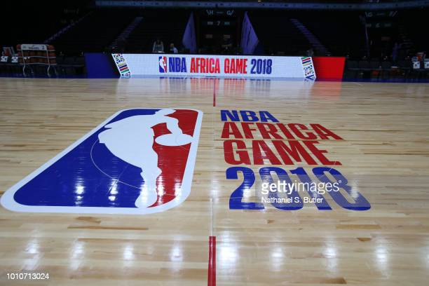 View of the court during practice prior to the NBA Africa Game 2018 as part of the Basketball Without Boarders Africa program on August 4, 2018 at...