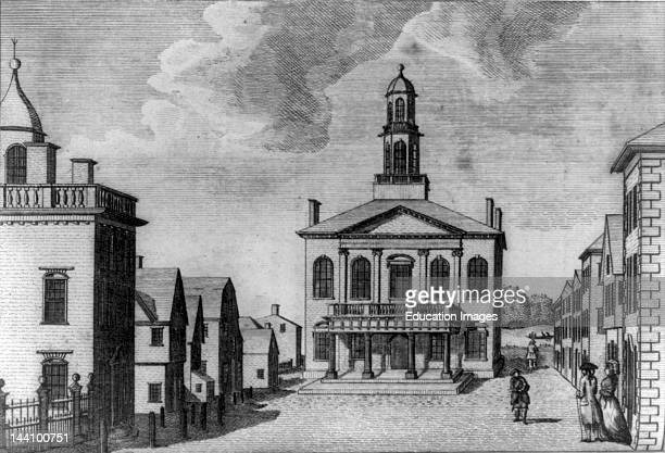 View Of The Court House In Salem Massachusetts / W Gray Del Engraved By S Hill [1790]