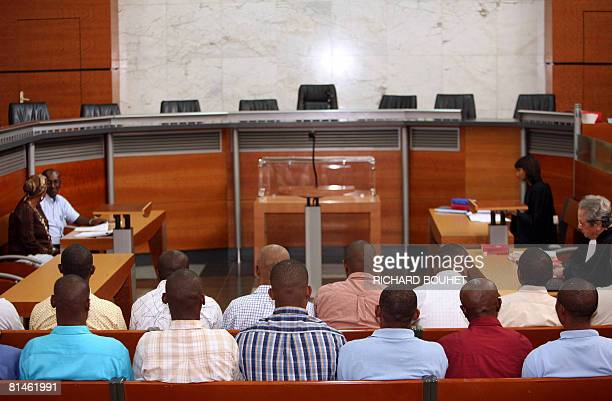 View of the court of appeals where ousted Anjouan leader Mohamed Bacar and followers sit on June 5 2008 in the French Indian territory of Reunion in...