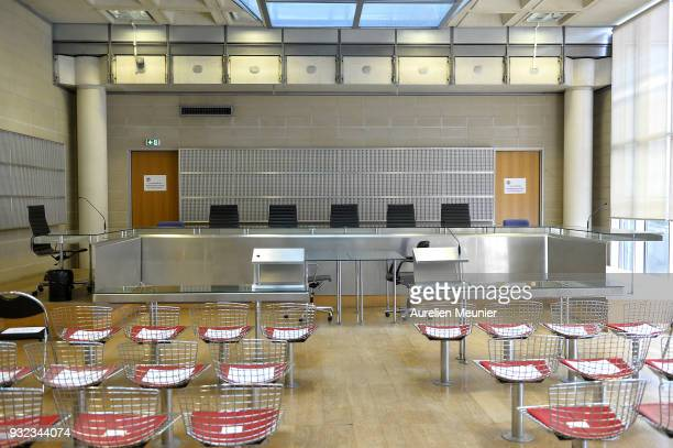 A view of the court room before the Johnny Hallyday hearing commences at Tribunal de Grande Instance on March 15 2018 in Nanterre France Today a...