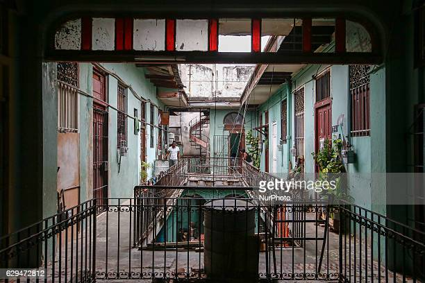 A view of the courtyard inside of a traditional apartment block in Havana's city center On Thursday 1 December 2016 in Havana Cuba