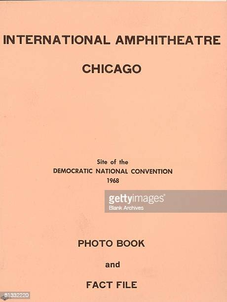 View of the cover of the Chicago International Ampitheatre's Photo Book Fact File Chicago Illinois late 1960s The facility was the site of the 1968...