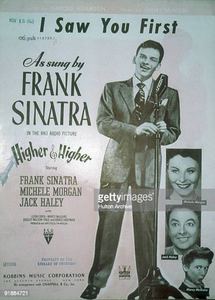View of the cover of the sheet music for Harold Adamson and Jimmy McHugh's 'I Saw You First' as performed by American singer and actor Frank Sinatra...