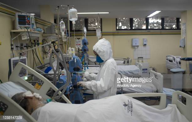 View of the COVID-19 intensive Care Unit in Rio De Janeiro, Brazil on May 27, 2021. Brazil confirms more than 2,245 deaths by covid-19 and the total...