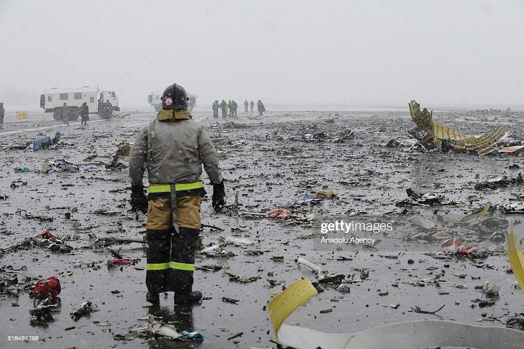Dubai plane crashes in Russia : News Photo