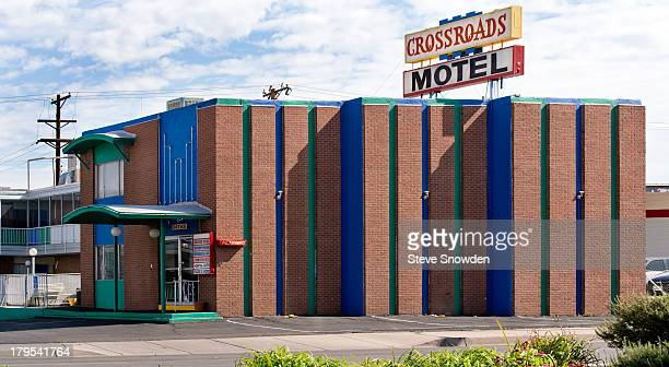 A view of the Crossroads Motel on September 02 2013 in Albuquerque New Mexico Hank Schrader took Walter White Jr to the Crossroads Motel for a scared...