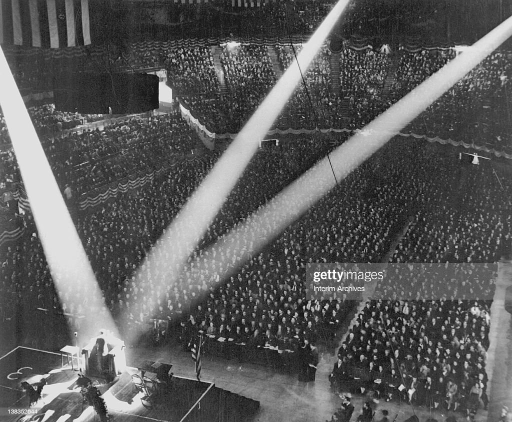 Victory Rally In Madison Square Garden : News Photo