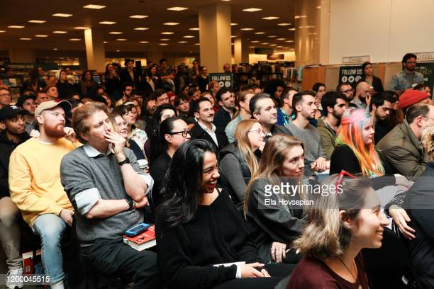 A view of the crowd as Ari Herstand celebrates his new book How To Make It in the New Music Business Barnes Noble at The Grove on January 16 2020 in...