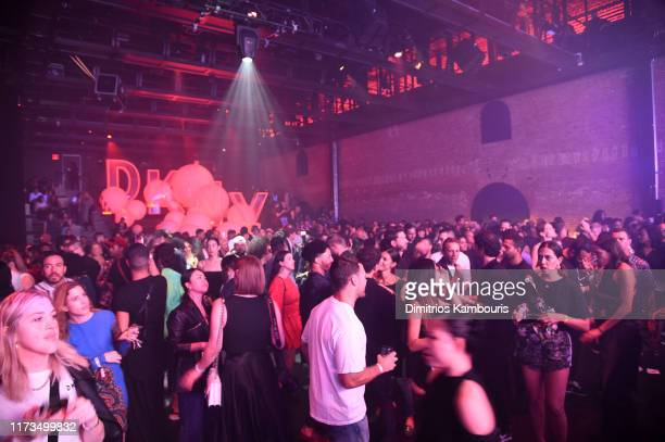 A view of the crowd as DKNY turns 30 with special live performances by Halsey and The Martinez Brothers at St Ann's Warehouse on September 09 2019 in...