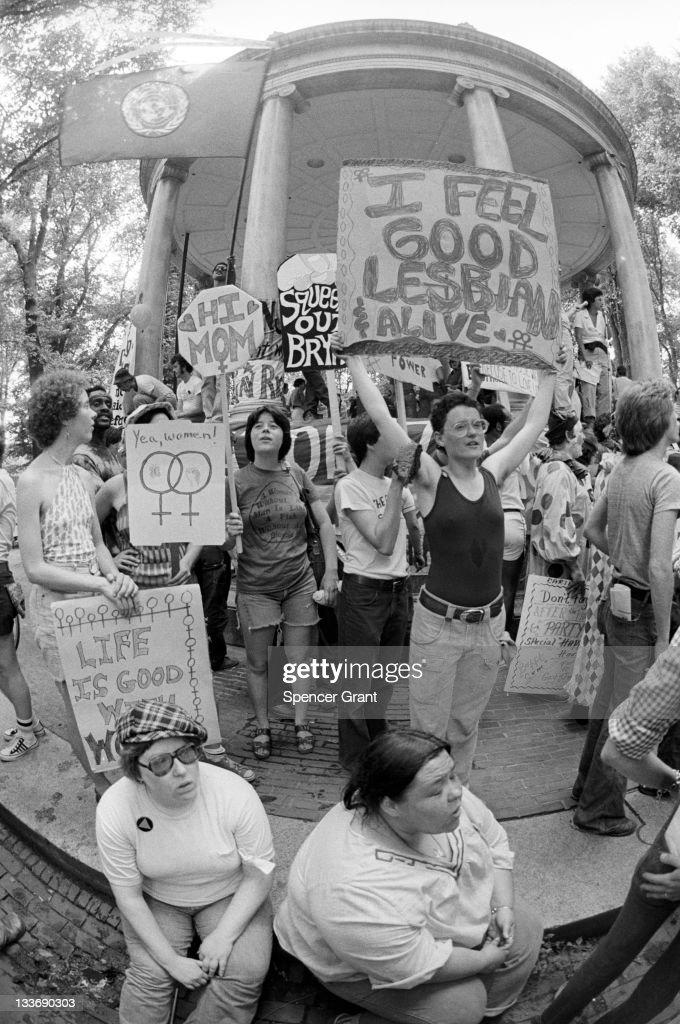 Lesbian Rights Rally : News Photo