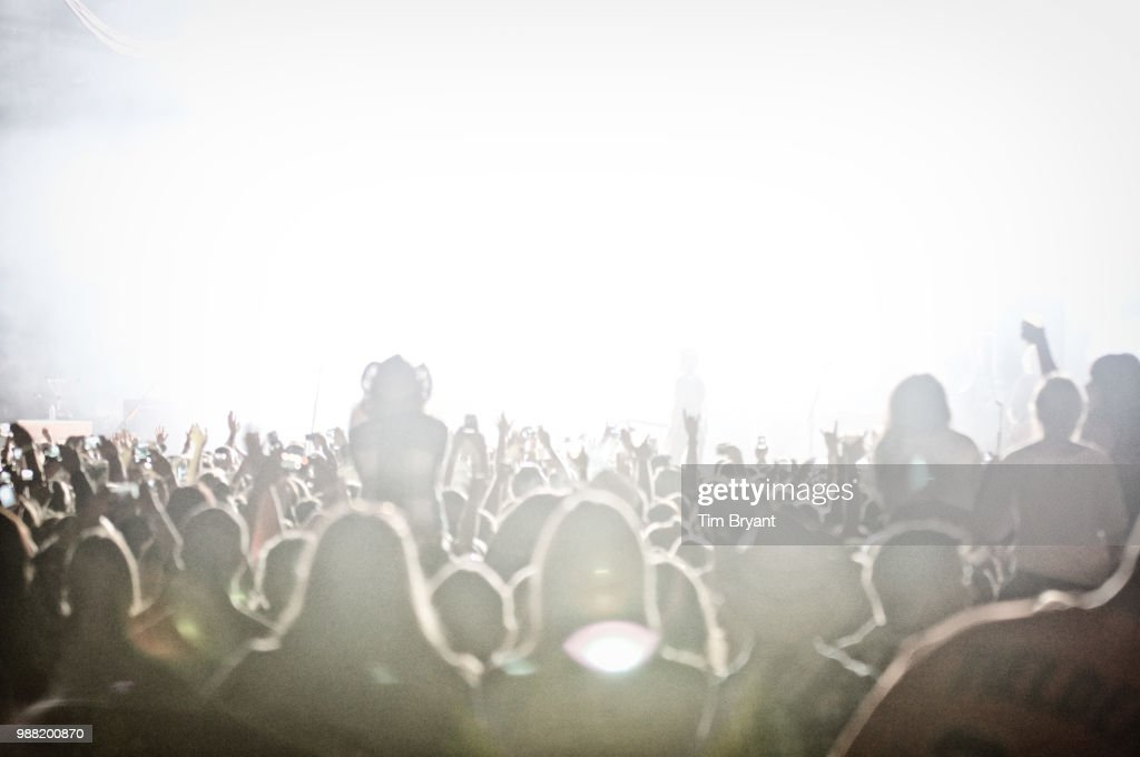 View of the crowd at a Luke Bryan concert. : Stock Photo