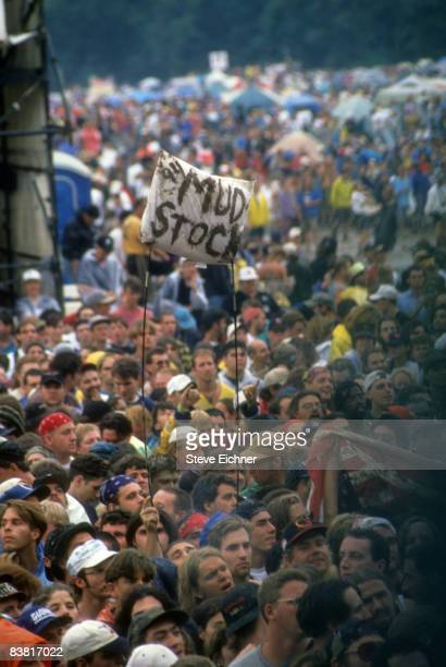 A view of the crowd at the 1994 Woodstock Music Festival held on the 25th anniversary of the first Woodstock concert Saugerties New York