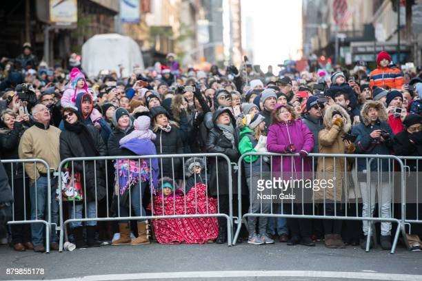 A view of the crowd at the 91st Annual Macy's Thanksgiving Day Parade on November 23 2017 in New York City