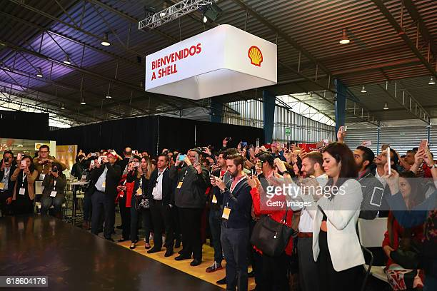 A view of the crowd at the Shell Eco Marathon event during the Formula One Grand Prix of Mexico at Autodromo Hermanos Rodriguez on October 27 2016 in...