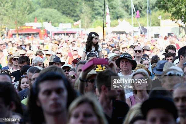 View of the crowd during day 2 at The Isle of Wight Festival at Seaclose Park on June 14 2014 in Newport Isle of Wight