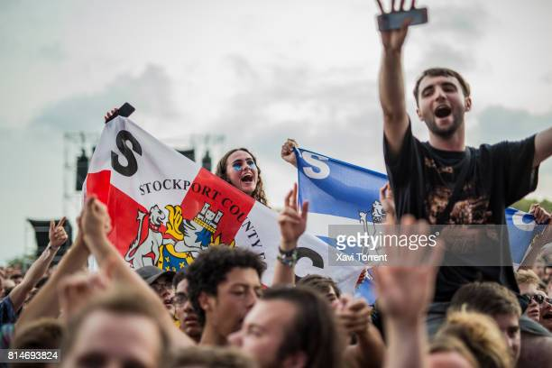 View of the crowd during day 2 of Festival Internacional de Benicassim on July 14 2017 in Benicassim Spain