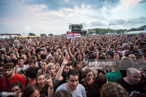 View of the crowd during day 3 of Festival Internacional de Benicassim on July 15 2017 in Benicassim Spain