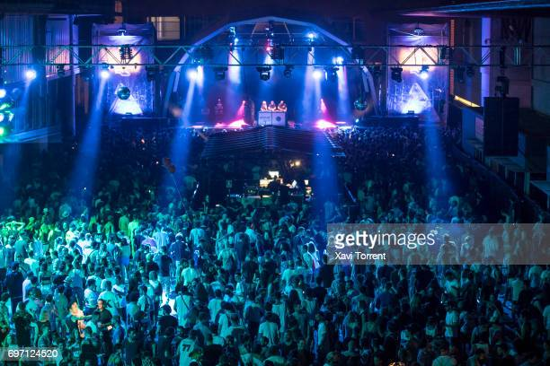 View of the crowd during day 4 of Sonar Festival on June 17 2017 in Barcelona Spain