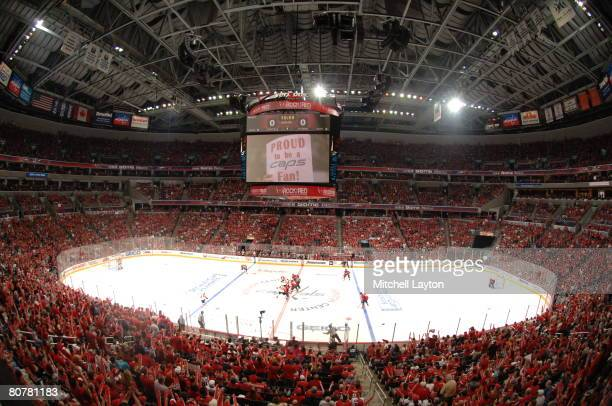 A view of the crowd during game five of the 2008 NHL Eastern Conference Quaterfinals between the Washington Capitals and the Philadelphia Flyers on...