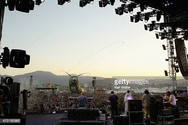 A view of the crowd during the Alabama Shakes performance on day 1 of the 2015 Coachella Valley Music And Arts Festival at The Empire Polo Club on...