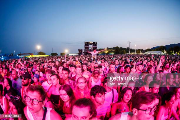 View of the crowd during the Festival Internacional de Benicassim on July 20, 2019 in Benicassim, Spain.