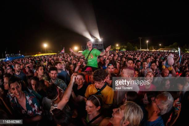 View of the crowd during the Festival Internacional de Benicassim on July 21, 2019 in Benicassim, Spain.