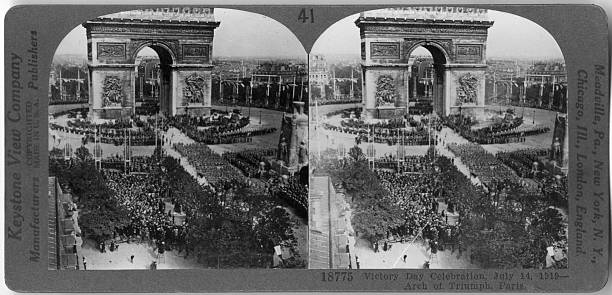 Victory Day Celebration At The Arc De Triomphe