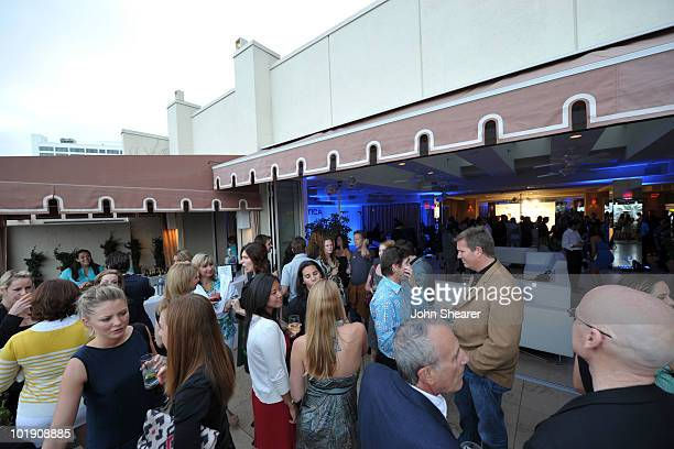 A view of the crows at the GQ Nautica and Oceana World Oceans Day Party at Sunset Tower on June 8 2010 in West Hollywood California