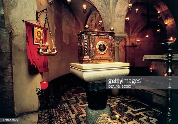 A view of the crypt Basilica di San Nicola Bari Puglia Italy 11th century