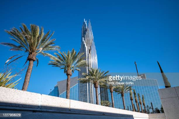View of the Crystal Cathedral is seen on August 07, 2020 in Garden Grove, California.