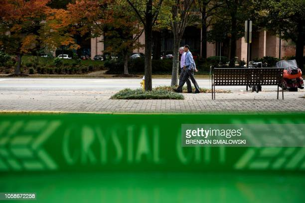 A view of the Crystal City section one of the possible locations for Amazon's second headquarters is seen on November 7 2018 in Arlington Virginia...