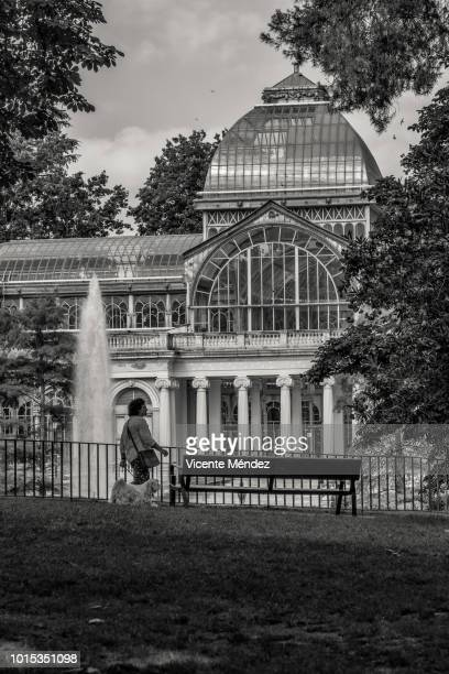 View of the Crystal Palace in the Retiro Park