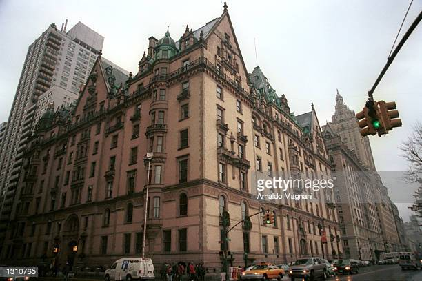 A view of the Dakota on the Upper West Side home to John Lennon and the site of his murder twenty years earlier December 8 2000 in New York City