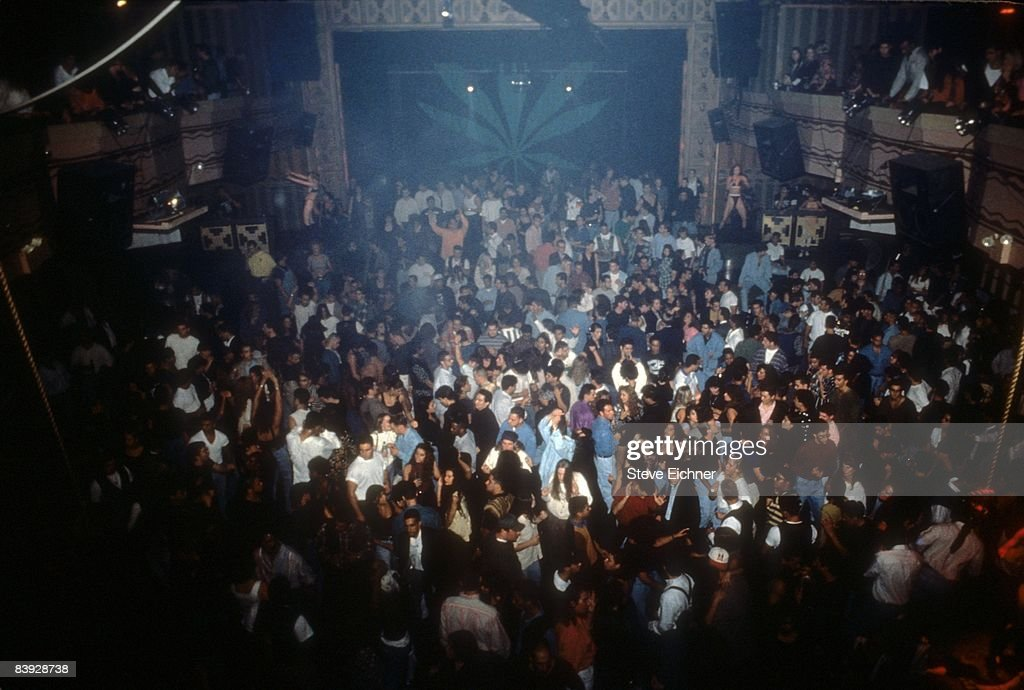 A view of the dancing and merriment during a New Year's party held inside New York City's Webster Hall, 1993.