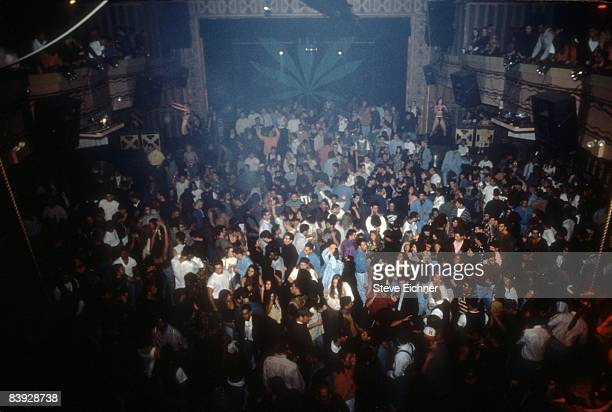 A view of the dancing and merriment during a New Year's party held inside New York City's Webster Hall 1993