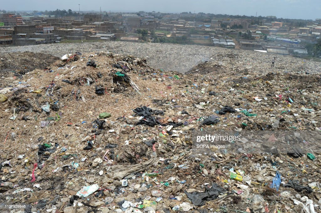 View of the Dandora dump site located in the outskirts of... : News Photo