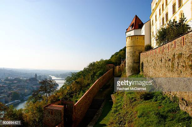 CONTENT] View of the Danube River from the Veste Oberhaus in Passau on a bright sunny autumn day Passau is a popular spot for European cruises and is...