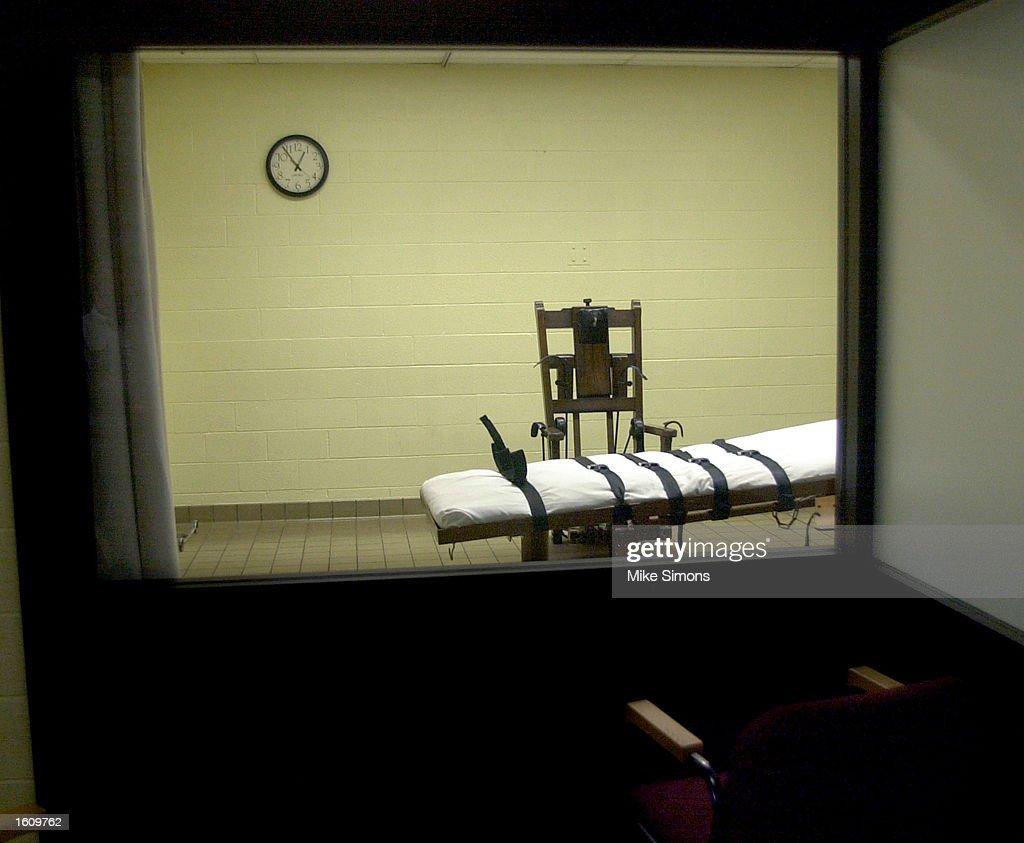 Death Chamber at Southern Ohio Correctional Facility : News Photo