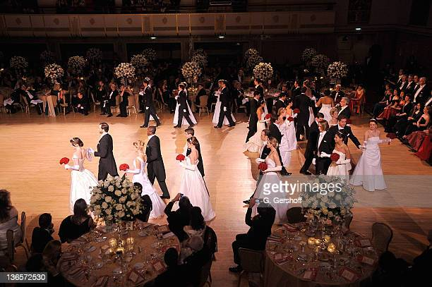 View of the debutante presentation during the 56th annual Viennese Opera Ball at The Waldorf=Astoria on February 4, 2011 in New York City.